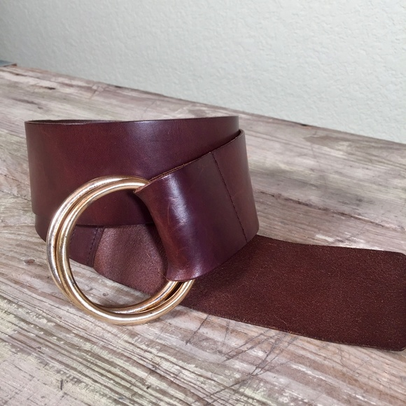 The Limited Accessories - The Limited leather hip belt double ring brown S